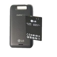 NEW OEM LG MS840 CONNECT 4G METRO PCS BACK DOOR COVER + LG BL-44JN BATTERY KIT