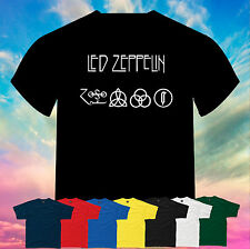 Led Zeppelin Symbols ZoSo Logo  Printed T-Shirt Size, Print and Color Choice