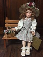 """Caroline"" Collectible Porcelain Doll by ""Pamela Phillips"" in Box w/Certificate"