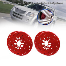 4xCar Truck Aluminum Alloy Wheel Brake Disc Cover Decorative Rotor Cross Drilled