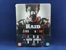 THE RAID + RAID 2 Steelbook Bluray Serbuan maut Gareth Evans Iko Uwais NEW NEUF