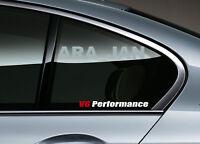 V6 PERFORMANCE Decal Sport Racing sticker car logo auto window emblem 2 pcs