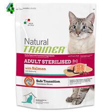 Natural Trainer Sterilised Salmone 7,5 kg Alimento per Gatti Gatto Adulti Adulto