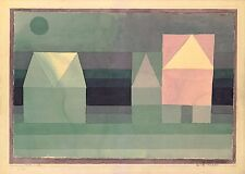 Paul Klee Reproduction: Three Houses - Fine Art Print