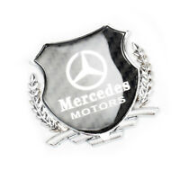 1x 3D Silver Car Side Metal Badge Emblem Decal Sticker Fit For Mercedes-Benz Car