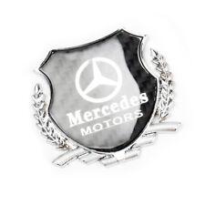 1x 3D Silver Car Side Metal Badge Emblem Decal Sticker Fit For Mercedes-Benz Car