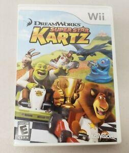 DreamWorks Super Star Kartz Kart Racing Nintendo Wii Tested Working Complete