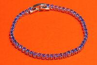 Damen Tennis Armband Silber Zirkonia Blau Kristall Ketten Brautschmuck Modisch