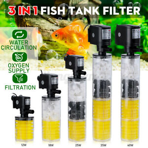 3in1 Aquarium Water Pump Submersible Fish Tank Pond Internal Filter