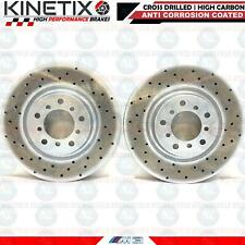 FOR BMW M3 E46 KINETIX FRONT PERFORMANCE DRILLED BRAKE DISCS PAIR 325mm