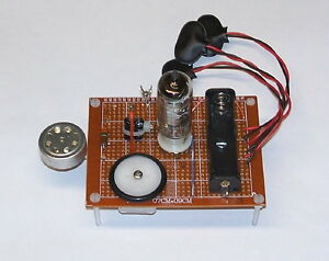 LOW COST - unbuilt vintage VACUUM TUBE AM radio TRANSMITTER project set DIY kit