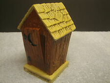 Vintage Ries Hillbilly Outhouse Penny Piggy Bank Ceramic Japan Hand Decorated