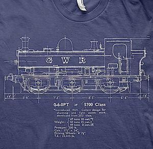 GWR pannier tank model railways  trains BR t shirt