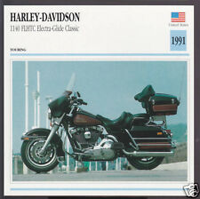 1991 Harley-Davidson 1140 FLHTC Electra-Glide Classic Motorcycle Photo Info Card