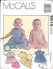 8816 UNCUT Vintage McCalls Pattern Baby Infant Dress Shorts SEWING Princess Seam