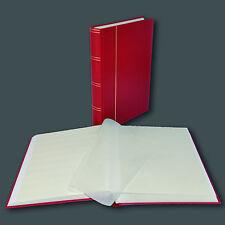 Briefmarkenalbum, Einsteckbuch Einsteckalbum, 60 Seiten weiß in ROT