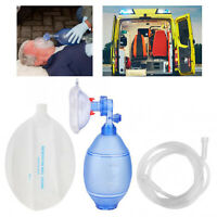 Manual Resuscitator Silicone For Adults Ambu Bag+Oxygen Tube CPR First Aid Set