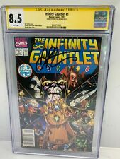 Infinity Gauntlet #1 (1991) CGC SS 8.5 Signed by Jim Starlin