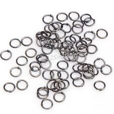 3mm dark silver tone oring jump ring