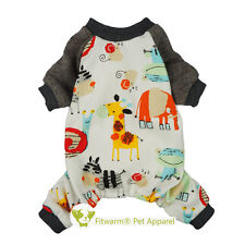 "Fitwarm 14""Chest Animals Dog Clothes Pattern Pajamas Small Pet Coat Jumpsuit Boy"