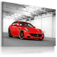 FERRARI FF RED  Super Sport Car Wall Canvas Picture ART  AU389   MATAGA