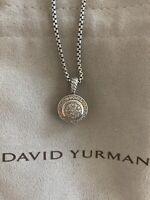 David Yurman Round Albion Diamond Pave Necklace