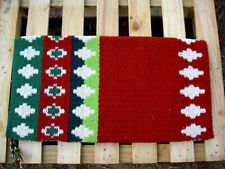 34x36 Horse Wool Western Show Trail Saddle Blanket Rodeo Pad Rug Red 3643