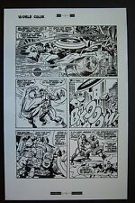 Original Production Art CAPTAIN AMERICA #105 page #19, JACK KIRBY art
