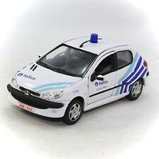 Police 1/43 De Agostini Peugeot 206 5 doors Brussels West Politie Belgium