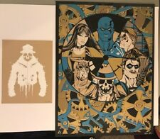 """Anthony Petrie """"Nothing Ever Ends"""" Watchmen Poster & Rorschach Print dc comics"""