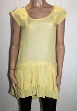 Katies Brand Mustard Yellow Extended Sleeve Tunic Top Size 8 BNWT #SY84