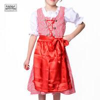 SALE! NEU! Kinder Dirndl Trachtenkleid 3-teilig in rot/weiss/KARIERT UVP 29,90€