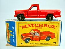 """Matchbox RW 71B Jeep Gladiator rot kleine Räder top in """"E2"""" Box"""