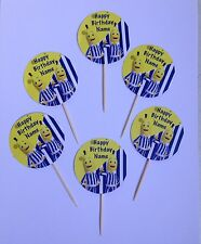 12 x Personalised Bananas In Pyjamas  Birthday Cup Cake Toppers Double Sided