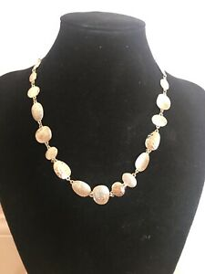 Accessorize Necklace - Gold Tone Circle Necklace, barely worn