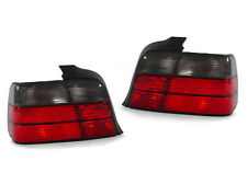 BMW E36 4DR SEDAN 3 SERIES EURO RED/SMOKED LENS TAIL LIGHTS REAR LAMPS TAILLIGHT