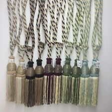 1 Pair Beaded Tassels Tieback Curtain Cord Home Window Treatments Choose color