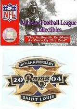2004 St. Louis Rams 10th Anniversary Jersey Patch Original Packaging Official
