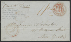 1850 Cross Border SFL, Quebec to New York via Montreal, PAID Crowned Circle