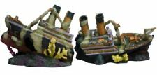 Ocean Liner, Extra Large Aquarium Fish Tank Decoration Ornament, Two-Parts