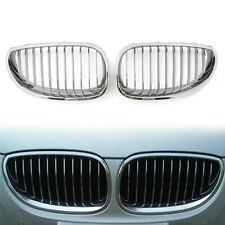 Chrome Front Kidney Grille Grill For BMW E60 E61 5 Series M5 2003-2009 B/