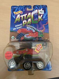 1992 Hot Wheels Attack Pack SANDSTINGER Package TARAN CHEWA Inside ERROR SCARCE