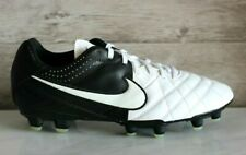 Nike Tiempo Natural LTR IV FG White/Black Leather Soccer Cleats US-6.5 New EU-39