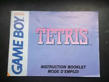Notice Game boy / Gb tetris couverture mauve fah original Booklet * NINTENDO