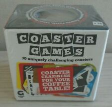 COASTER GAMES  Puzzles Dares Trivia Skill - 30 double sided in box by Ginger Fox