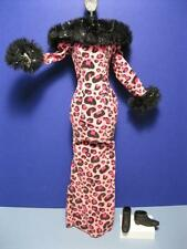 BARBIE Masquerade HALLOWEEN clothes-Animal print pink long dress-Lounge Kitties