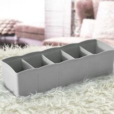 New 5 Cells Plastic Organizer Storage Box Tie Bra Socks Drawer Cosmetic Divider