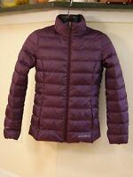 Eddie Bauer EB650 Womens XSmall Purple Down Puffer Jacket Lightweight Coat EUC