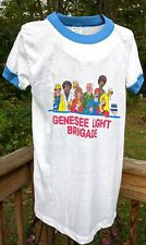 Vintage 1980s Genesee Light Brigade Beer T Shirt Adver-Tees Made in USA Sz M