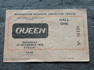 Queen Crazy Tour Original 1979 NEC Birmingham UK Concert Gig Ticket